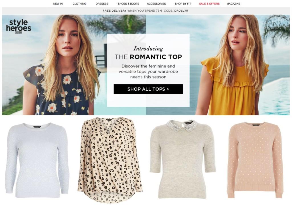 mijn 5 favo online plus size kledingwinkels  dorothy perkins
