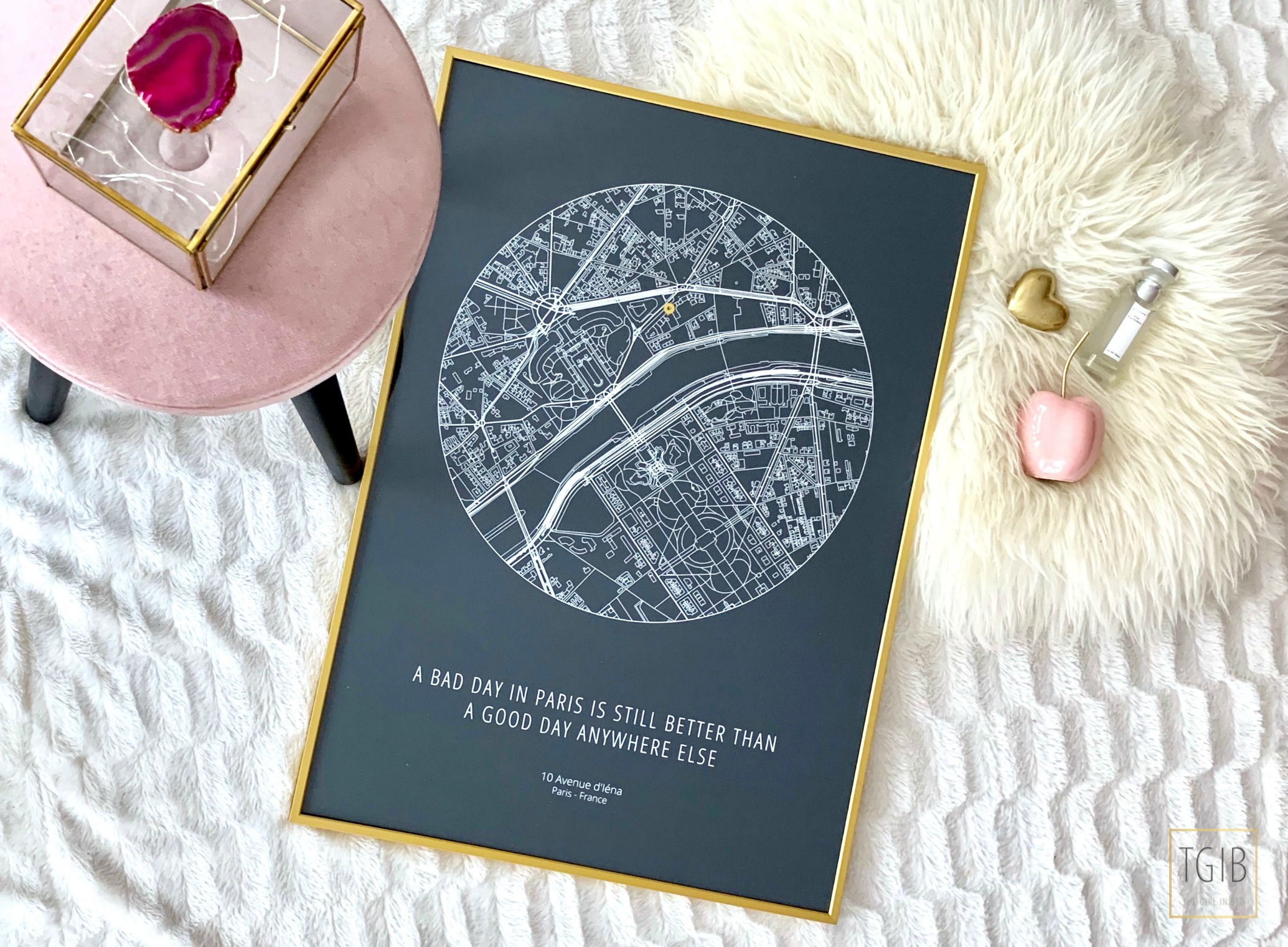 Place The Moment Poster Paris Flat lay