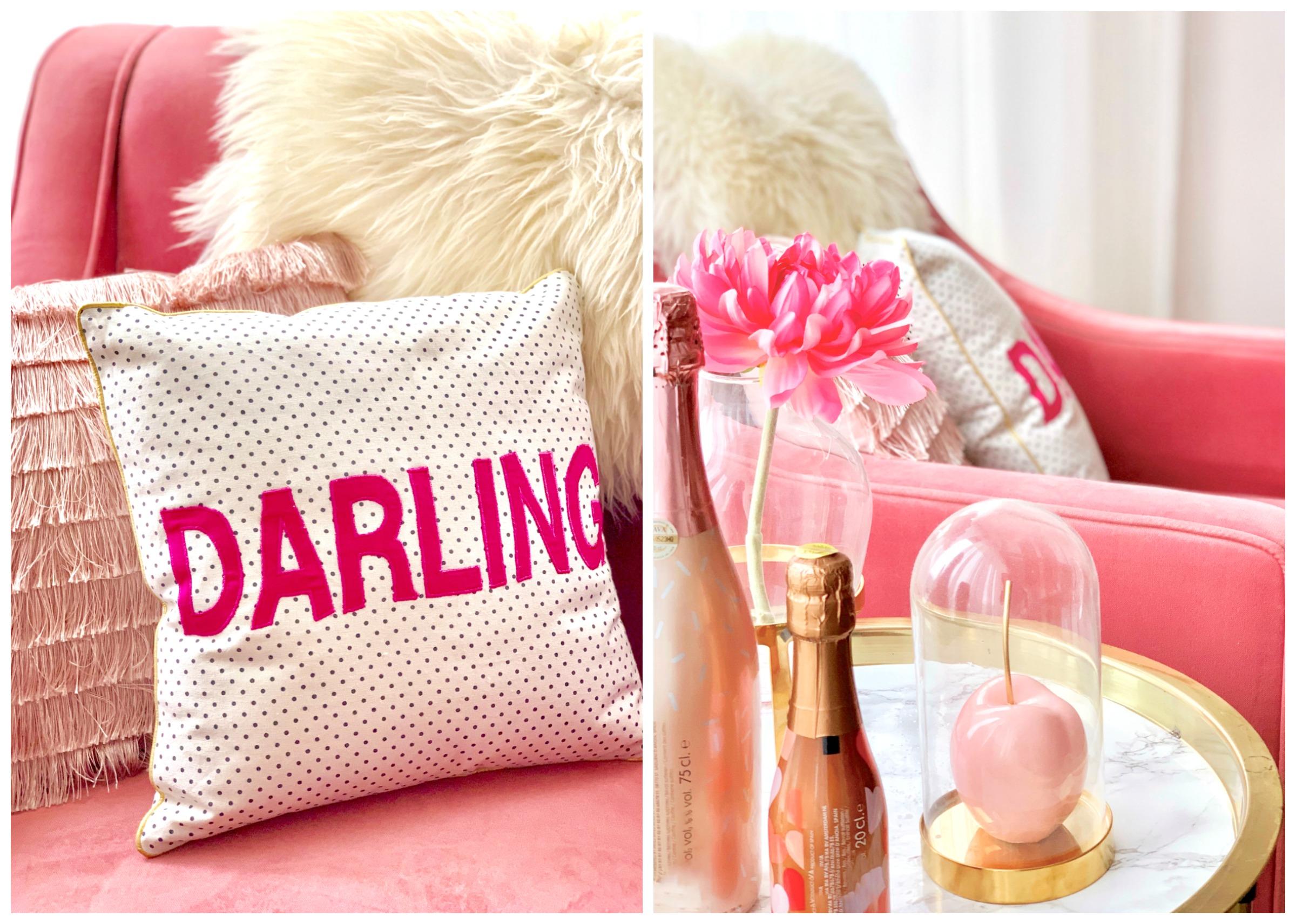 interieurhoekjes: een roze stoel