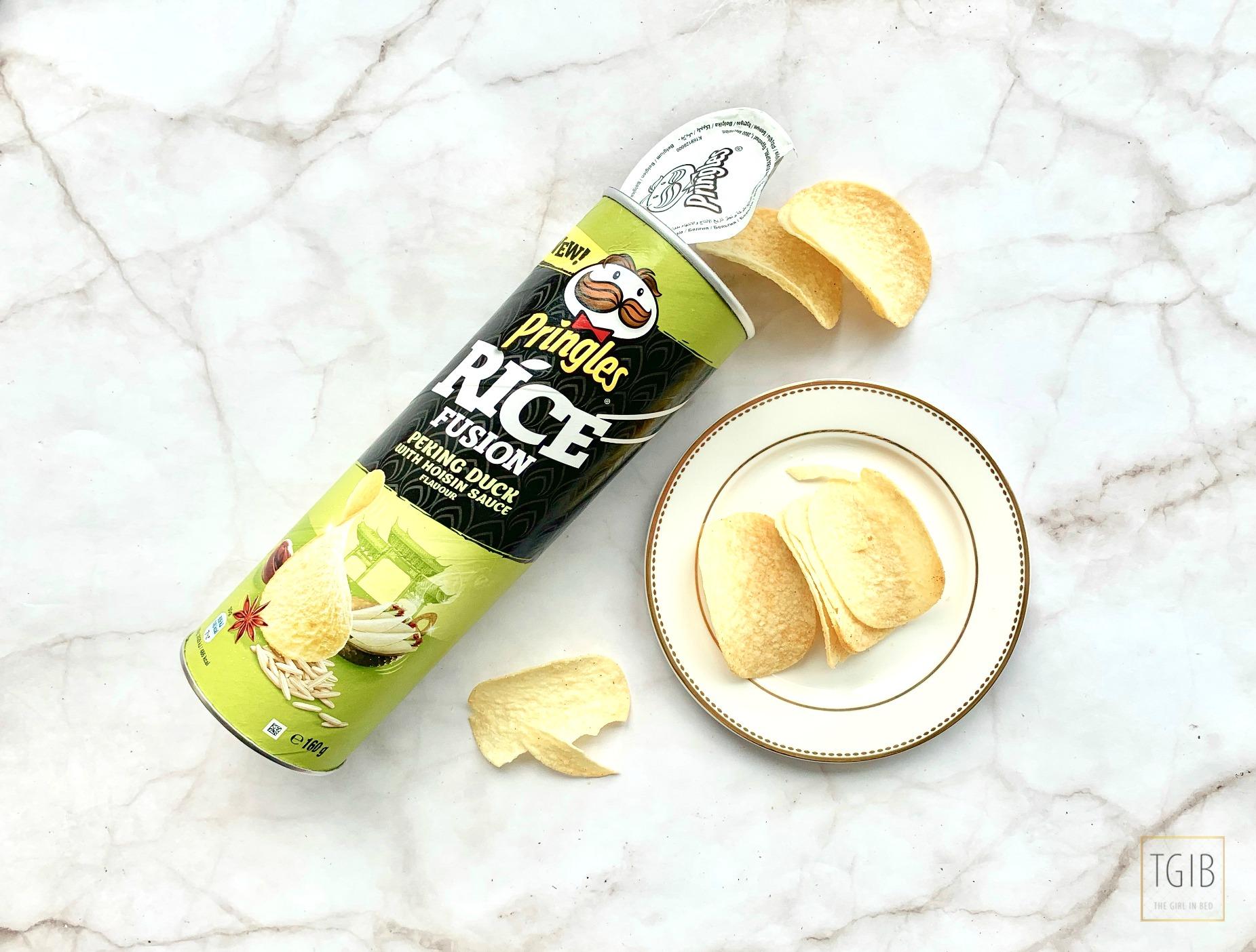 Pringles rice fusion Peking duck hoisin sauce