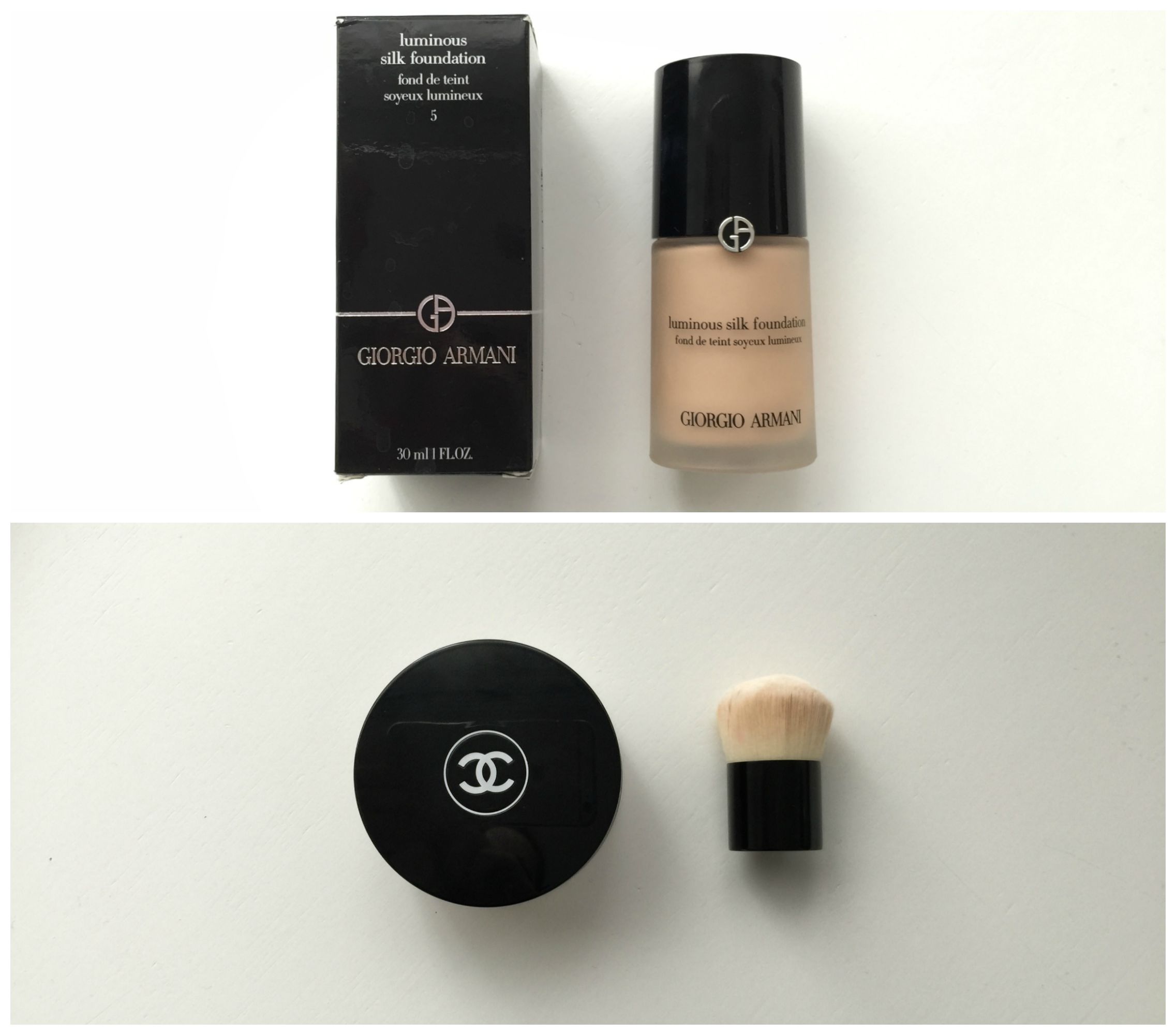 what's in my Chanel beauty bag foundation the girl in bed