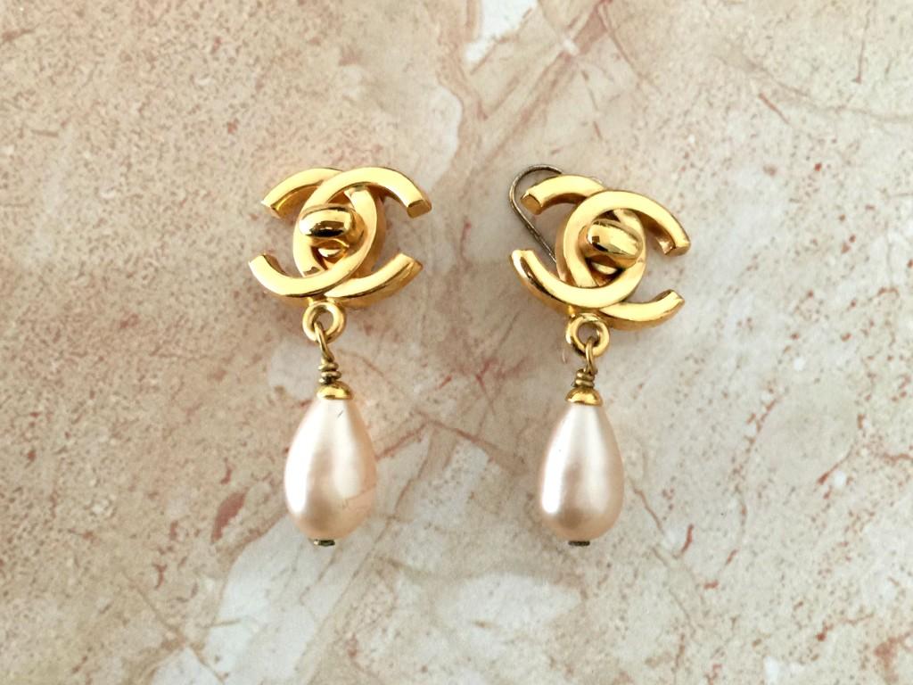 mijn vintage chanel sieraden oorbellen 1