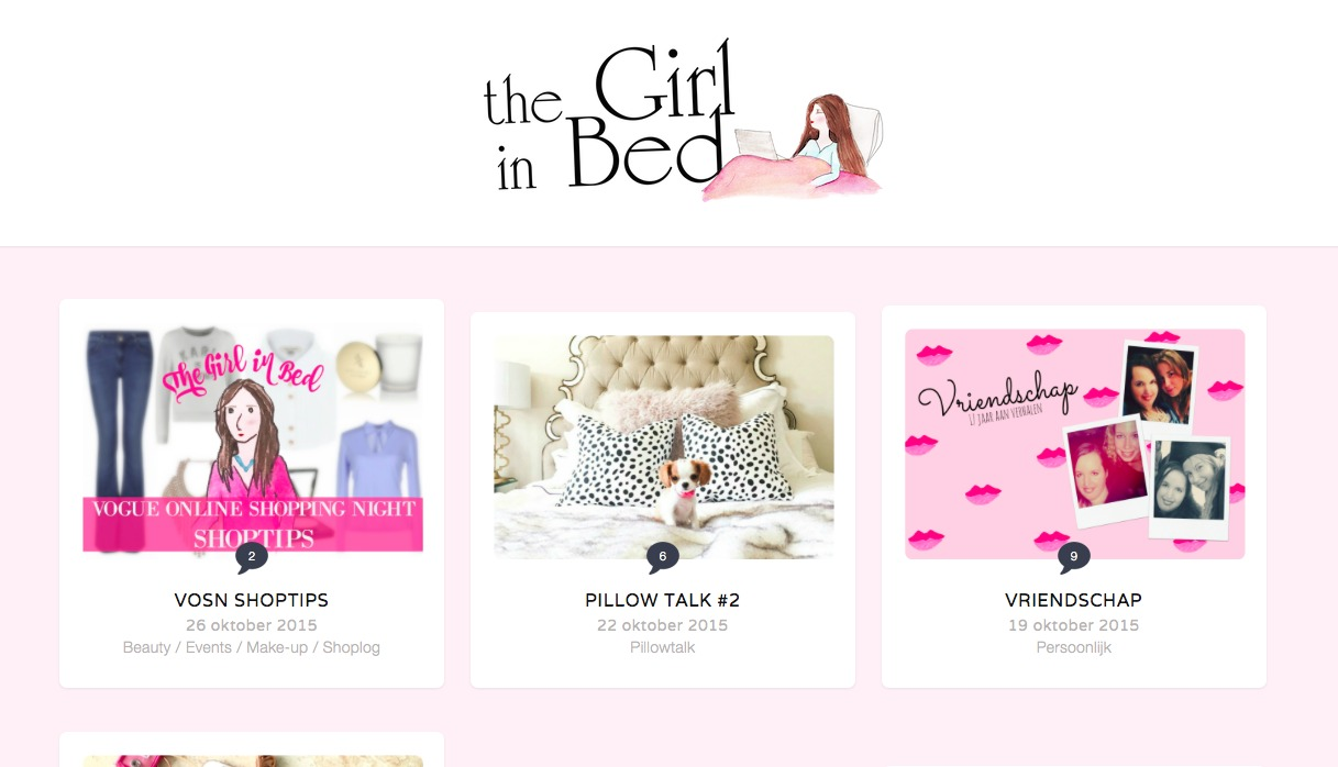 nieuwe layout the girl in bed