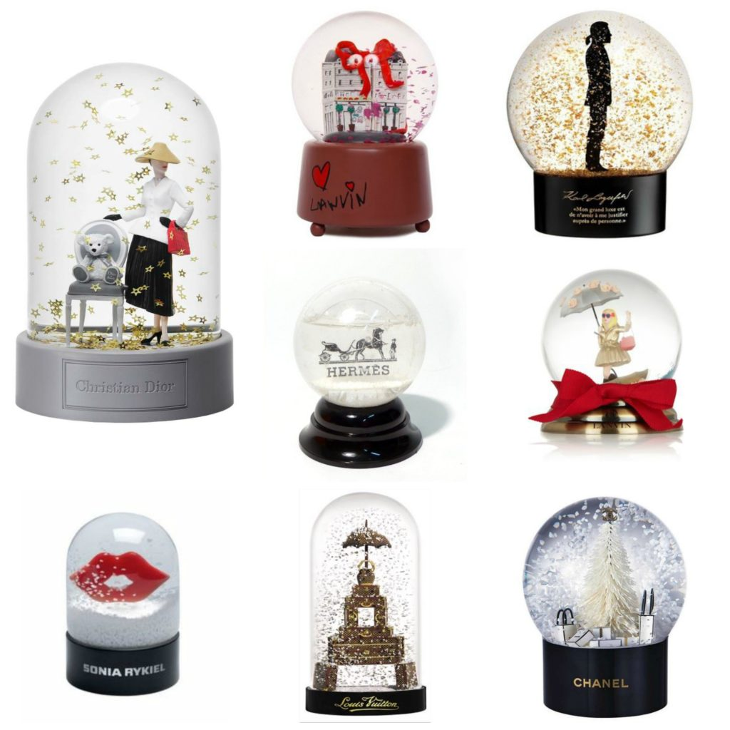 designer snow globes the girl in bed