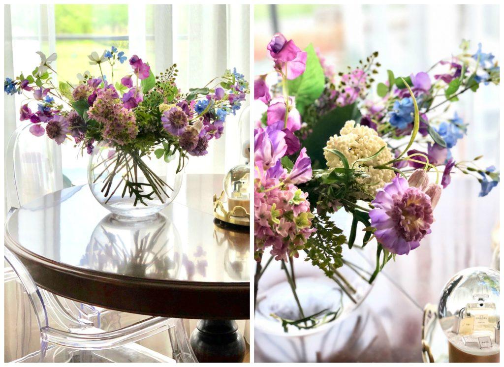 Bos paars blauwe bloemen