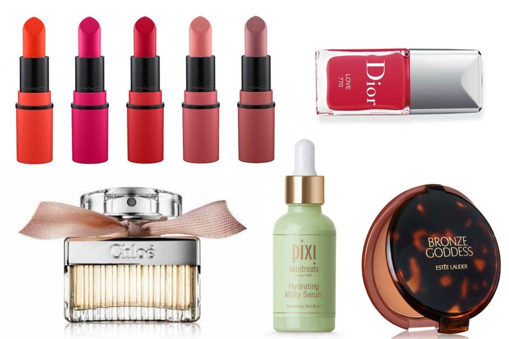 mac lipsticks, parfum, dior nagellak en bronzer
