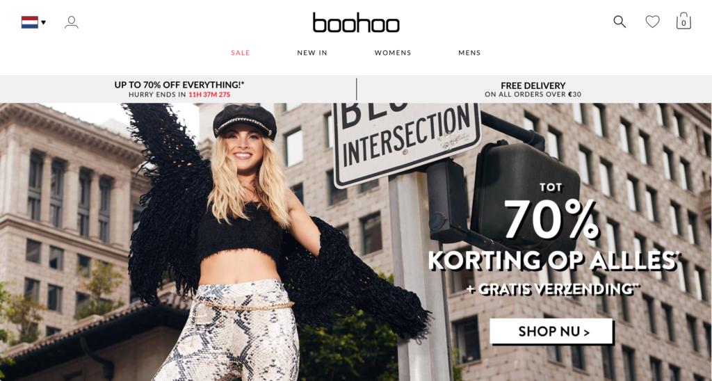 homepage boohoo