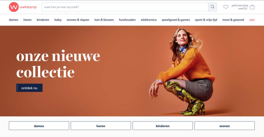 homepage wehkamp