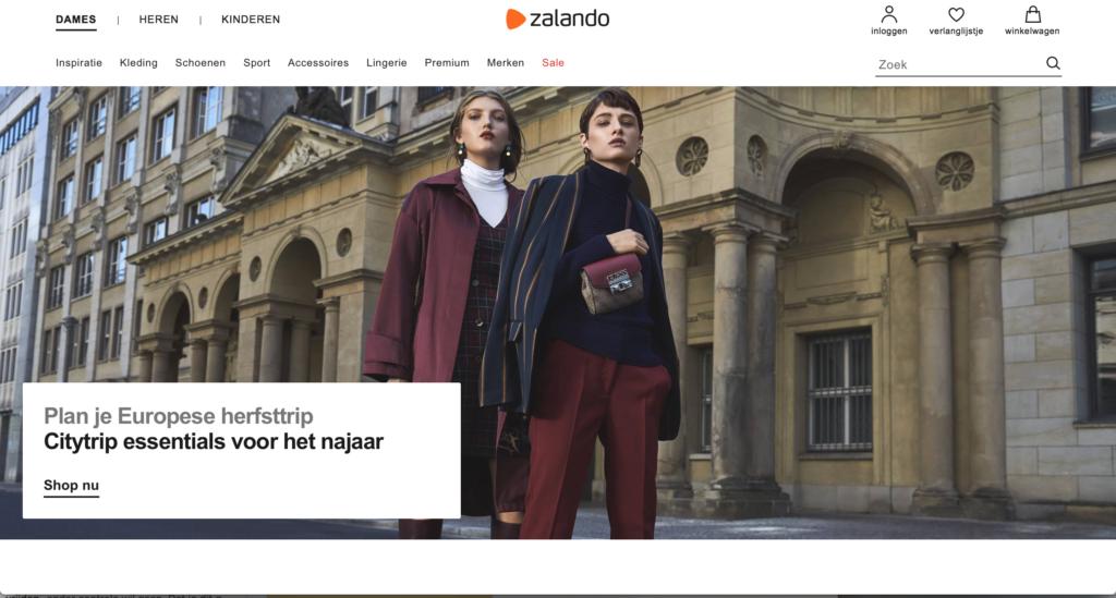 homepage Zalando