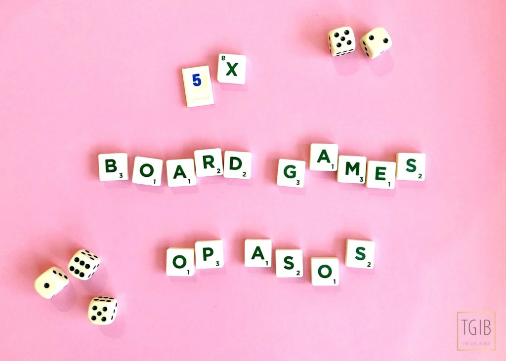 5x board games op ASOS scrabble letters