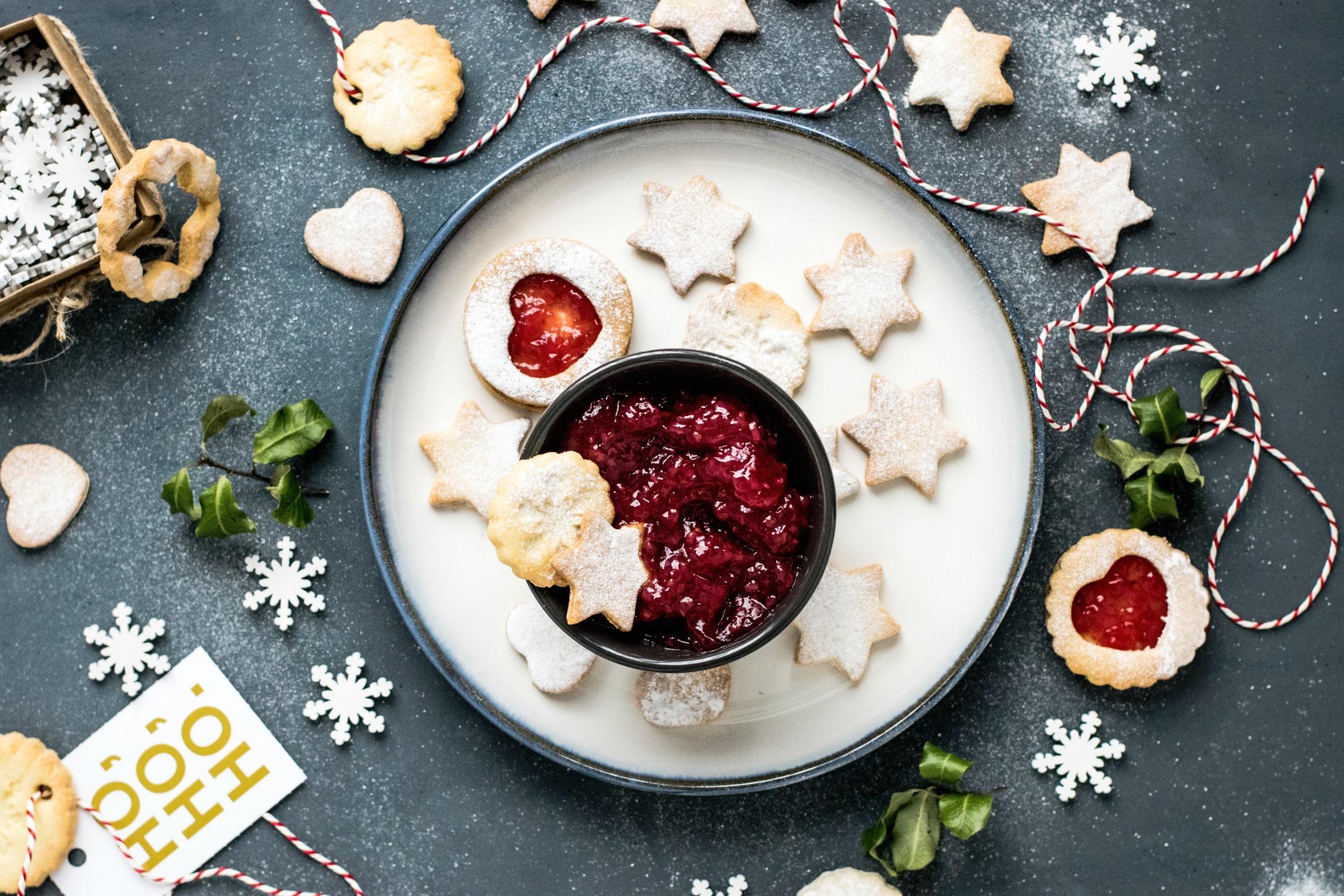 kerstdiner met koekjes