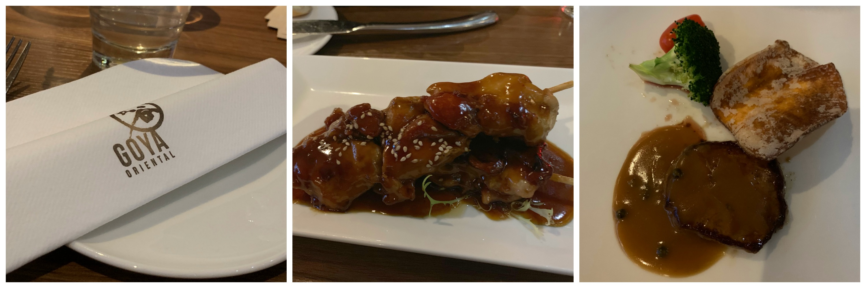 food at Goya oriental