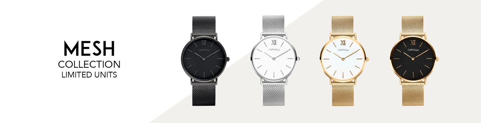 Capitola watches Horloge mesh