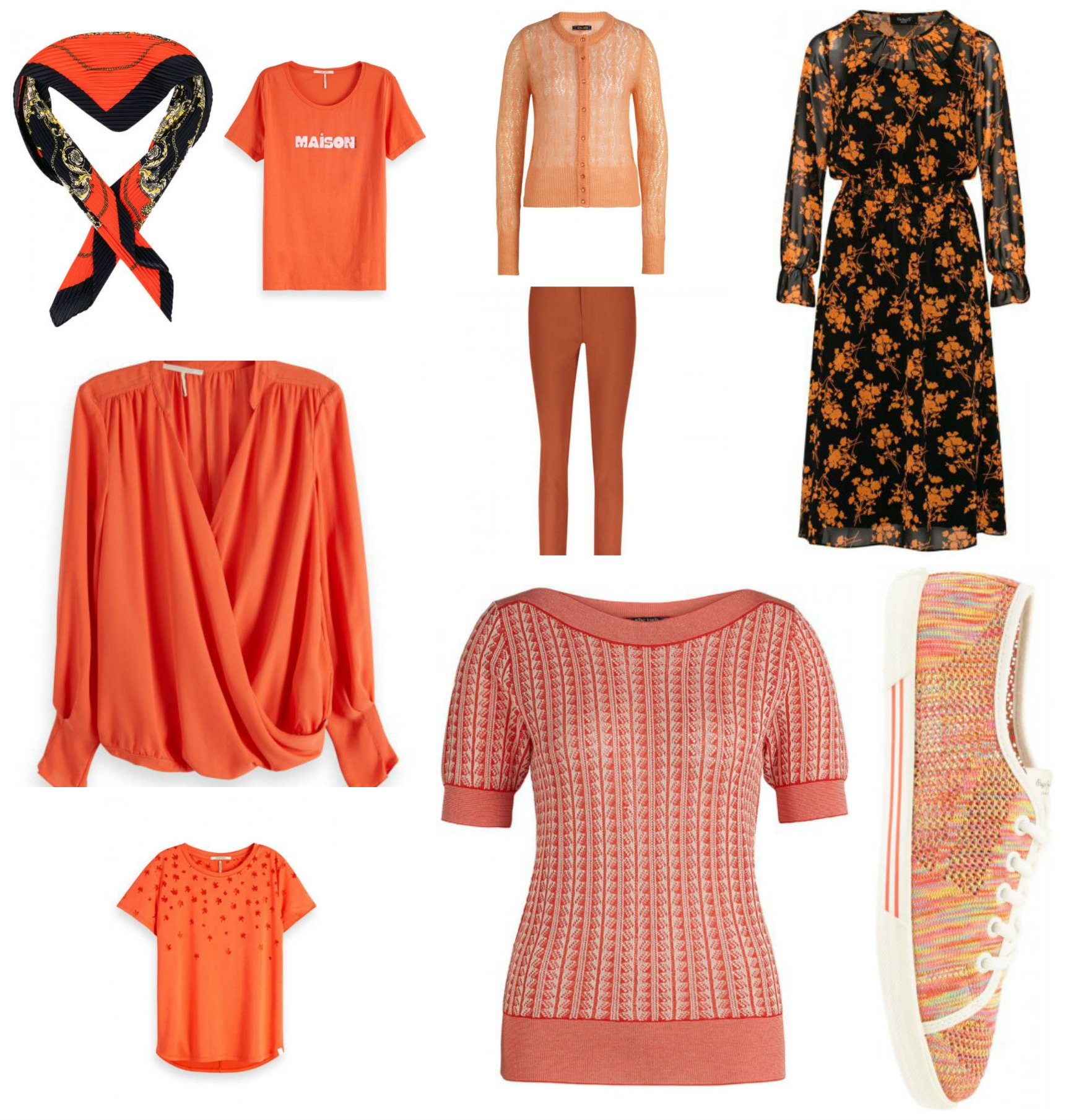 oranje in je outfit Orange outfits