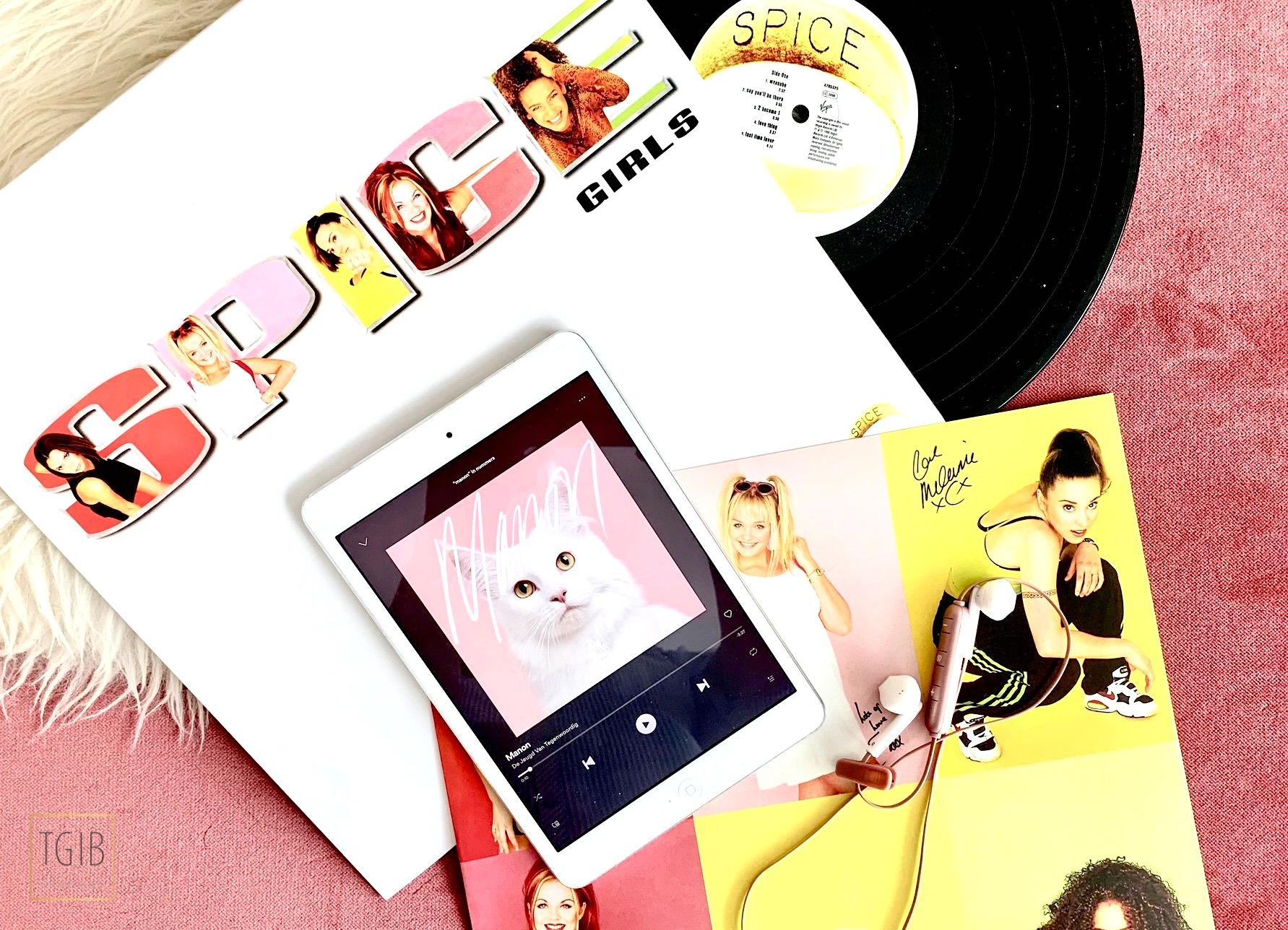 spice girls lp vinyl iPad with Spotify