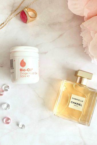 bio-oil dry skin gel flatlay