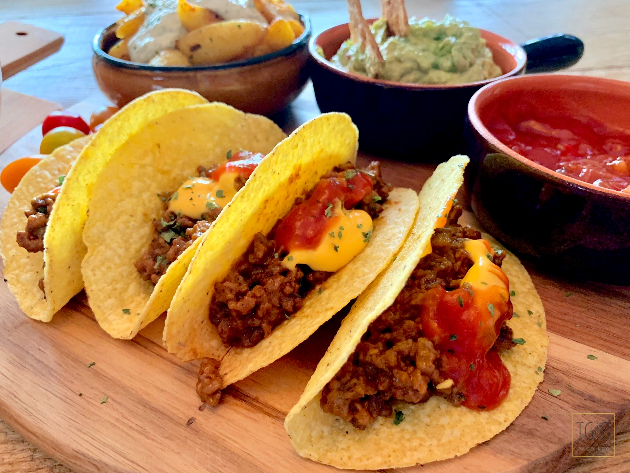 Cheesy Taco's Tex mex food
