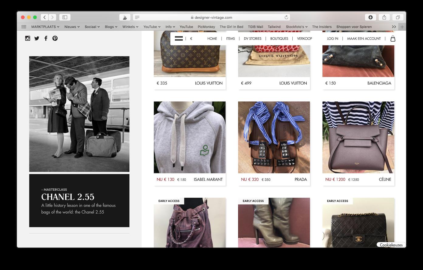 Tweedehands Designer Webshops Designer-vintage -