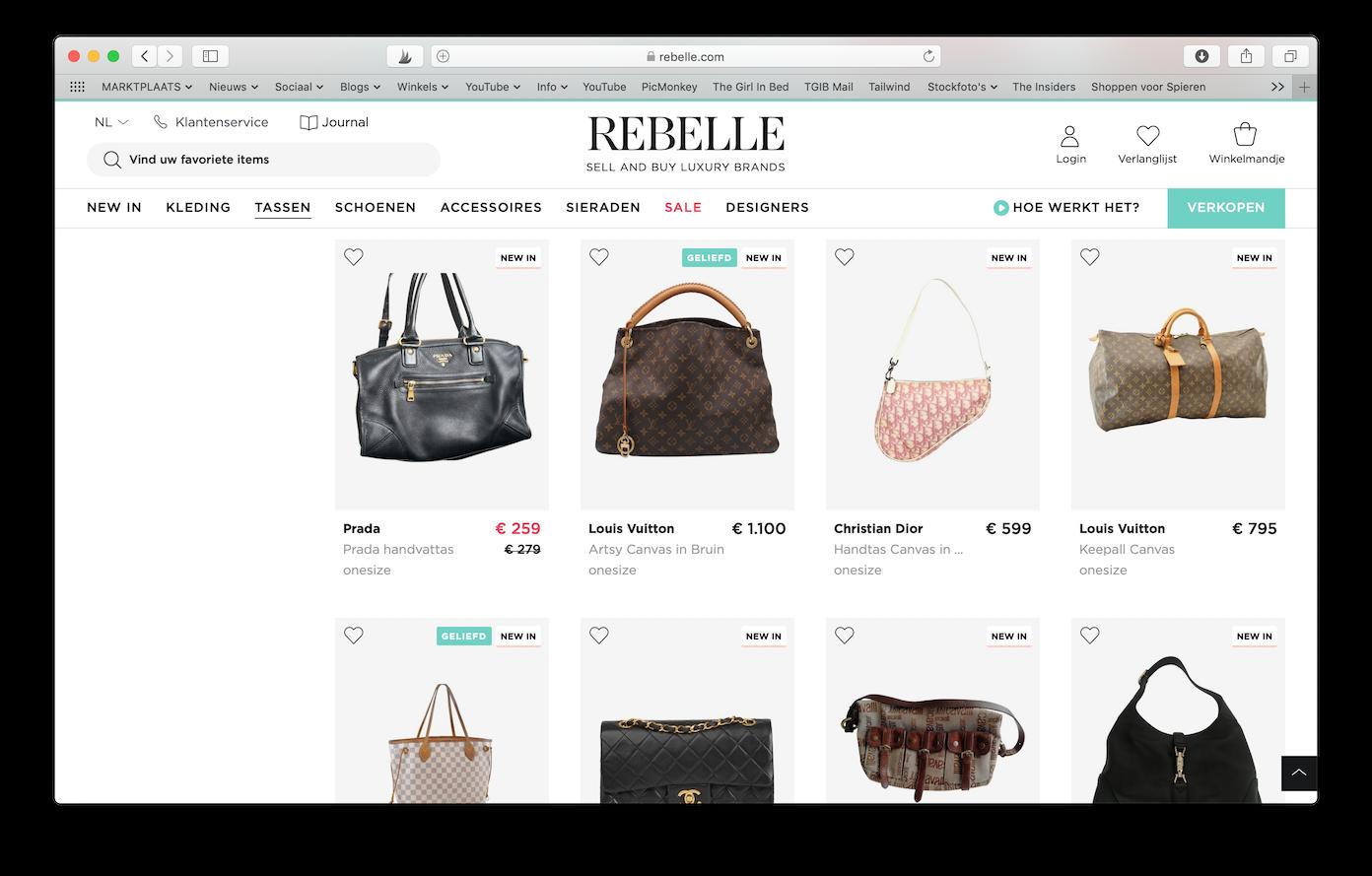 Tweedehands Designer Webshops Rebelle -