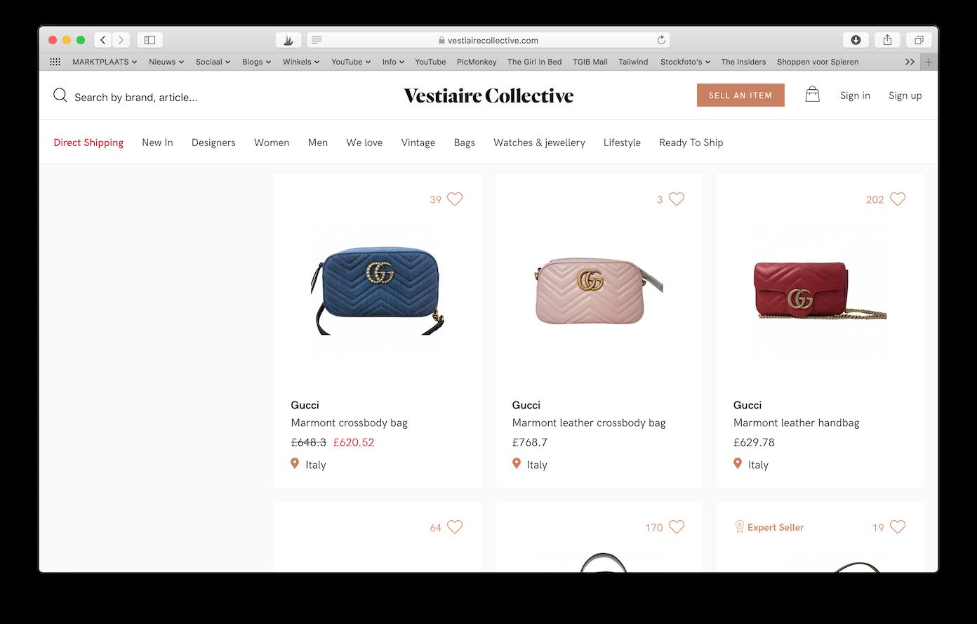 Tweedehands Designer Webshops Vestiaire collective