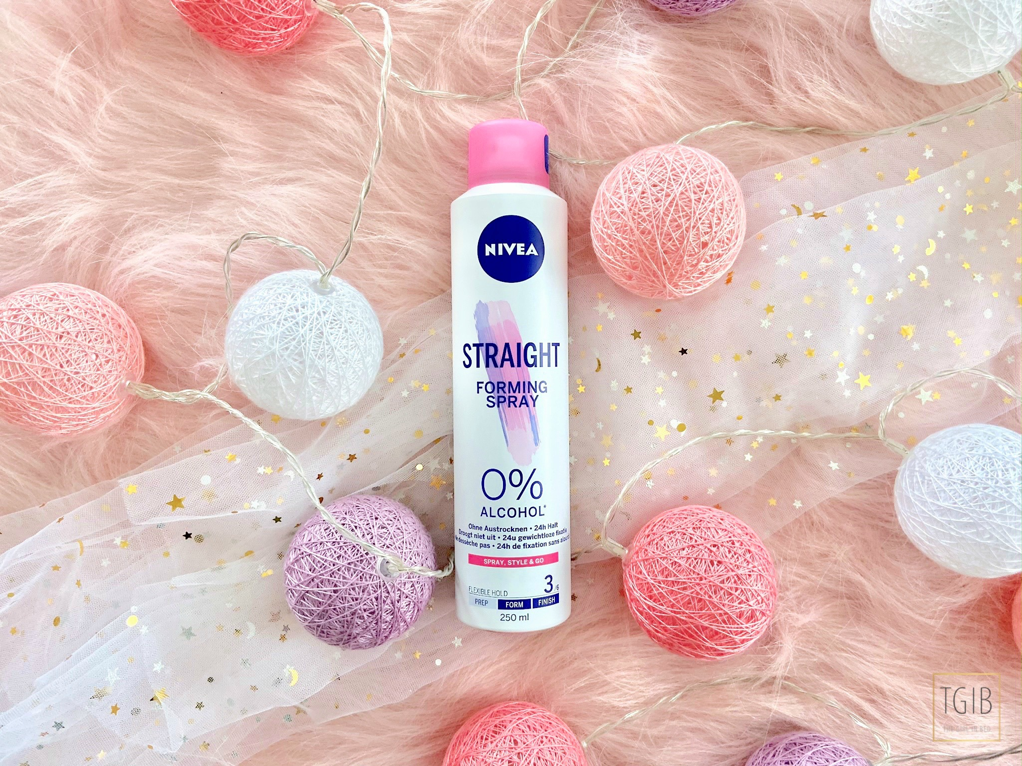 Nivea Styling producten straight forming spray