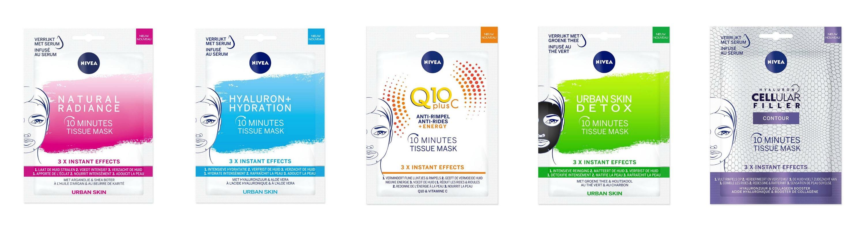 Nivea Tissue Masker review range