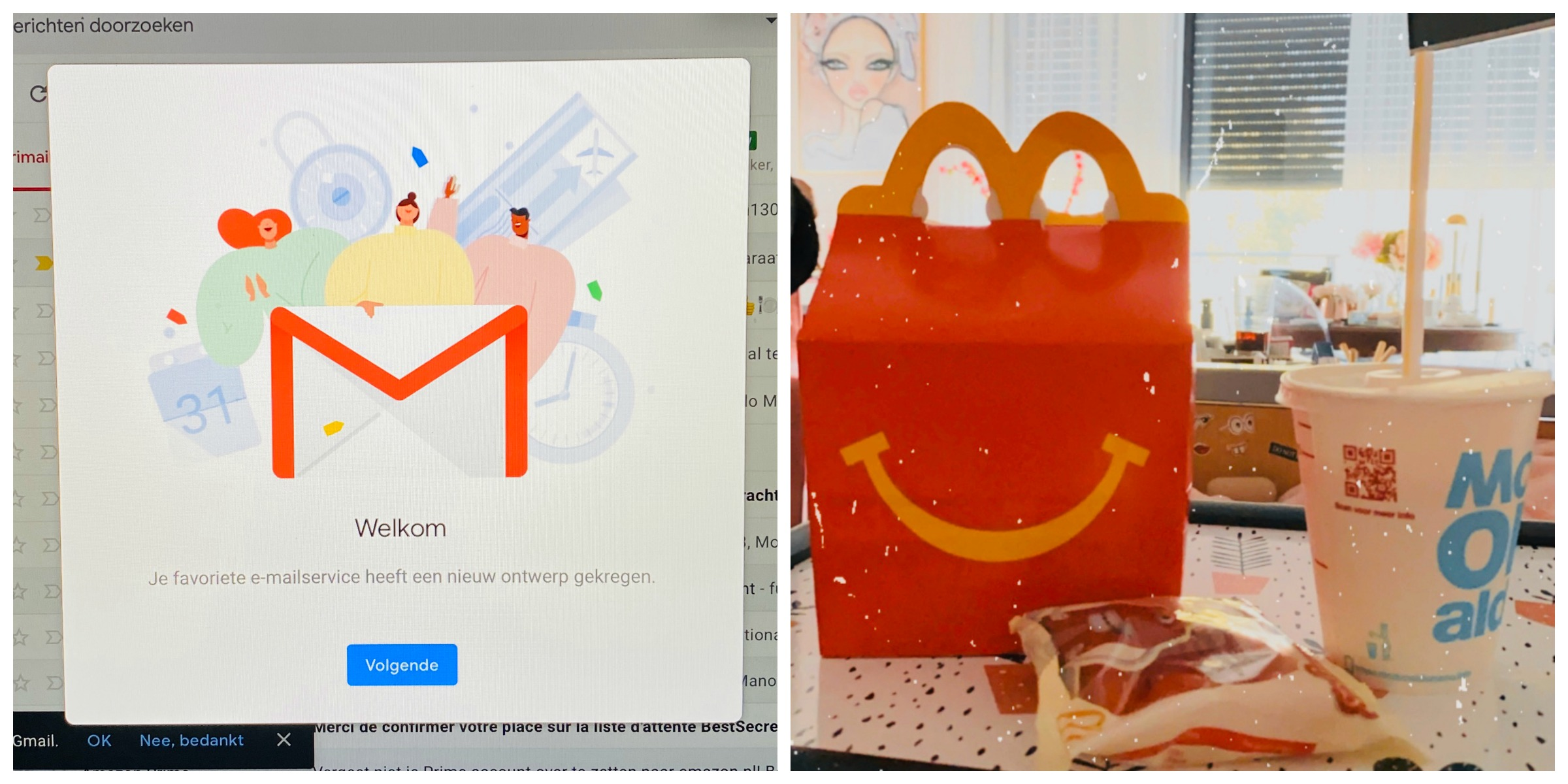 gmail inbox happy meal