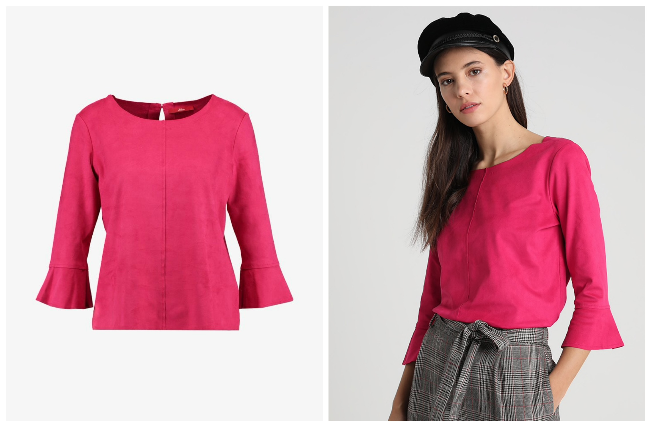 S. OLIVER blouse suede