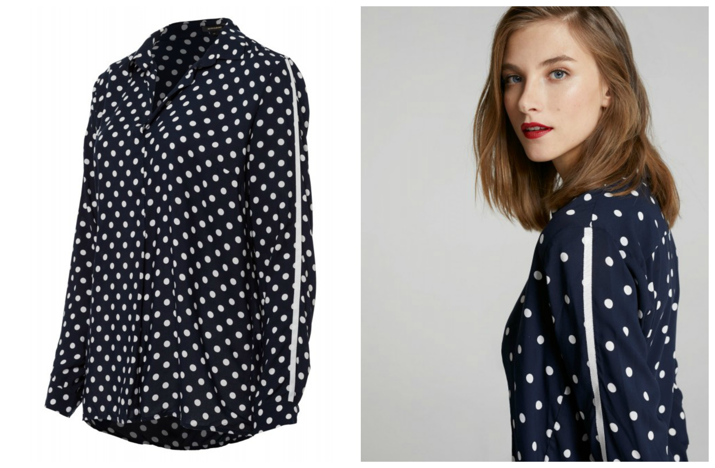 MORE & MORE polkadot blouse