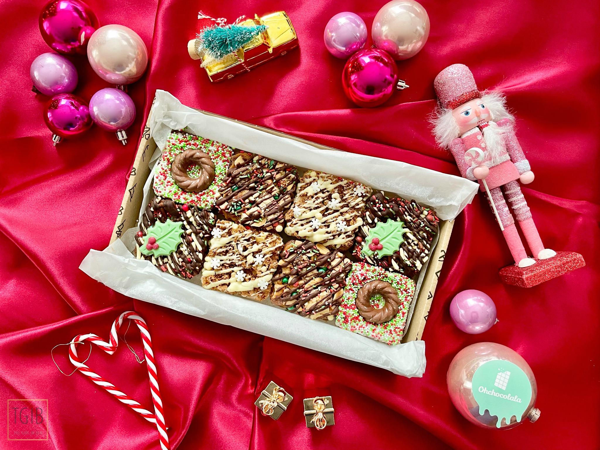 Ohchocolala kerstbrownies brievenbusbox