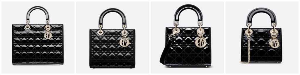 All Lady Dior Sizes