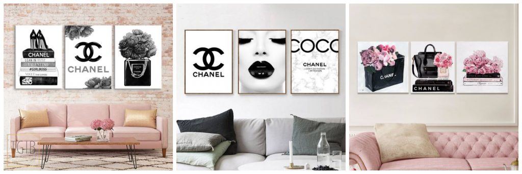 4x Chanel in je interieur- posters